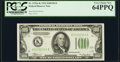 Fr. 2152-K $100 1934 Dark Green Seal Federal Reserve Note. PCGS Very Choice New 64PPQ