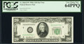 Fr. 2060-D* $20 1950A Federal Reserve Star Note. PCGS Very Choice New 64PPQ