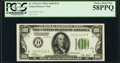 Fr. 2151-D $100 1928A Dark Green Seal Federal Reserve Note. PCGS Choice About New 58PPQ