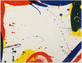 Prints & Multiples, Sam Francis (1923-1994). Untitled, from Portfolio 9, 1967. Lithograph in colors on wove paper. 17 x 22 inches (43.2 ...