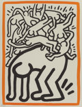 Prints & Multiples, Keith Haring (1958-1990). Untitled, 1990. Lithograph in colors on Arches paper. 11 x 8-1/2 inches (27.9 x 21.6 cm) (shee...