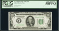 Fr. 2155-F $100 1934C Federal Reserve Note. PCGS Choice About New 58PPQ