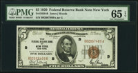 Fr. 1850-B $5 1929 Federal Reserve Bank Note. PMG Gem Uncirculated 65 EPQ