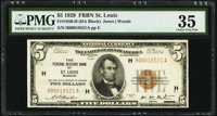 Fr. 1850-H $5 1929 Federal Reserve Bank Note. PMG Choice Very Fine 35