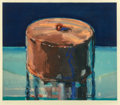 Prints & Multiples, Wayne Thiebaud (b. 1920). Dark Cake, 1983. Woodcut in colors on Tosa Koso paper. 15-3/4 x 17-1/2 inches (40 x 44.5 cm) (...
