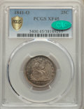 Seated Quarters, 1841-O 25C XF45 PCGS. CAC. PCGS Population: (8/83 and 0/0+). NGC Census: (5/53 and 0/2+). CDN: $270 Whsle. Bid for NGC/PCGS...