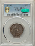 Seated Quarters, 1842-O 25C Large Date XF45 PCGS. CAC. PCGS Population: (12/48 and 0/0+). NGC Census: (7/41 and 0/0+). CDN: $300 Whsle. Bid ...