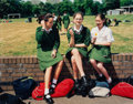 Photographs, Tina Barney (American, b. 1945). The Schoolgirls from the series The Europeans, 2001. Dye coupler, 2006. 32 x 39-1/2...