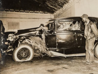 Weegee (American, 1899-1968) L Pillar Cracks Stepin Fetchit's Skull, Harlem Car Crash, April 25, 1937 (3 works) Gelati...