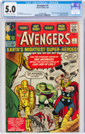 Silver Age (1956-1969):Superhero, The Avengers #1 (Marvel, 1963) CGC VG/FN 5.0 Off-white to white pages....