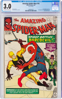 The Amazing Spider-Man #16 (Marvel, 1964) CGC GD/VG 3.0 Off-white to white pages