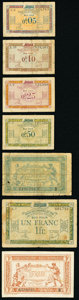 World Currency, France and French Territories Group Lot of 13 Examples Fine-Very Fine.. ... (Total: 13 notes)