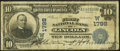 National Bank Notes:Nebraska, Lincoln, NE - $10 1902 Date Back Fr. 619 The First National Bank Ch. # (W)1798 Very Good.. ...