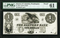 Washington, DC- Eastern Bank $1 18__ as G2 Proof PMG Uncirculated 61