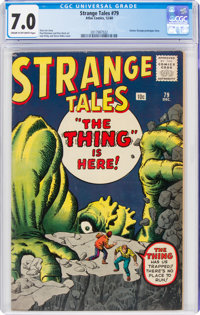 Strange Tales #79 (Marvel, 1960) CGC FN/VF 7.0 Cream to off-white pages
