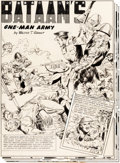 "Original Comic Art:Complete Story, Pagsilang Rey Isip Fight Comics #20 Complete 4-Page Story ""Bataan's One-Man Army"" Original Art (Fiction House, 194... (Total: 4 Original Art)"