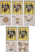 Music Memorabilia:Memorabilia, The Beatles Official Jewelry Collection of Five Items on Color Backing Card (Nems/Randall,1964). ... (Total: 5 Items)