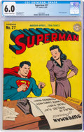 Superman #27 (DC, 1944) CGC FN 6.0 Off-white to white pages