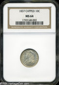 Bust Dimes: , 1837 MS64 NGC. The current Coin Dealer Newsletter (...