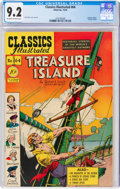 Golden Age (1938-1955):Classics Illustrated, Classics Illustrated #64 Treasure Island - First Edition (Gilberton, 1949) CGC NM- 9.2 Off-white to white pages....
