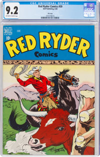 Red Ryder Comics #59 File Copy (Dell, 1948) CGC NM- 9.2 Off-white to white pages