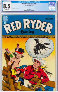 Red Ryder Comics #65 File Copy (Dell, 1948) CGC VF+ 8.5 Off-white pages