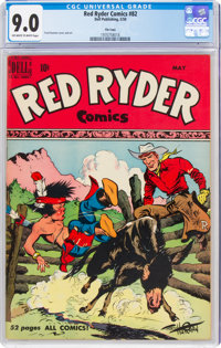 Red Ryder Comics #82 File Copy (Dell, 1950) CGC VF/NM 9.0 Off-white to white pages