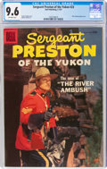 Silver Age (1956-1969):Adventure, Sergeant Preston of the Yukon #23 (Dell, 1957) CGC NM+ 9.6 Off-white pages....