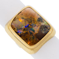 Boulder Opal, Gold Ring, Lilly Fitzgerald