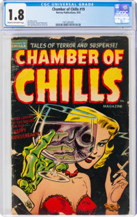 Chamber of Chills #19 (Harvey, 1953) CGC GD- 1.8 Cream to off-white pages