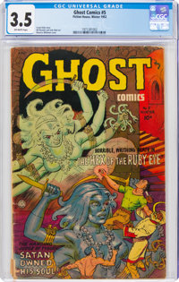 Ghost #5 (Fiction House, 1952) CGC VG- 3.5 Off-white pages
