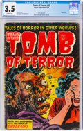 Golden Age (1938-1955):Horror, Tomb of Terror #15 (Harvey, 1954) CGC VG- 3.5 Off-white pages....
