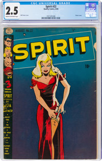 The Spirit #22 (Quality, 1950) CGC GD+ 2.5 Cream to off-white pages