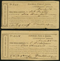 Confederate Notes:Group Lots, Interim Depositary Receipt Lynchburg, (VA)- $600; $2000 1864 Tremmel VA-92 Very Fine-Extremely Fine. Two Examples.. ... (Total: 2 items)
