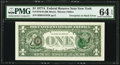 Error Notes:Third Printing on Reverse, Overprint on Back Fr. 1910-B $1 1977A Federal Reserve Note. PMG Choice Uncirculated 64 EPQ.. ...