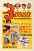 "Movie Posters:Comedy, Three Stooges (Columbia, 1937). Fine+ on Linen. Promotional Poster (28"" X 42"").. ..."