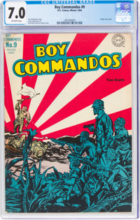 Boy Commandos #9 (DC, 1944) CGC FN/VF 7.0 Off-white pages
