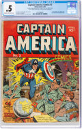 Golden Age (1938-1955):Superhero, Captain America Comics #2 Incomplete (Timely, 1941) CGC PR 0.5 Cream to off-white pages....