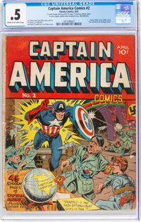 Captain America Comics #2 Incomplete (Timely, 1941) CGC PR 0.5 Cream to off-white pages