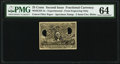 Fractional Currency:Second Issue, Milton 2E25F.3c 25¢ Second Issue Experimental PMG Choice Uncirculated 64.. ...