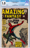 Silver Age (1956-1969):Superhero, Amazing Fantasy #15 (Marvel, 1962) CGC FR 1.0 Cream to off-white pages....