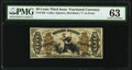 Fractional Currency:Third Issue, Fr. 1349 50¢ Third Issue Justice PMG Choice Uncirculated 63.. ...