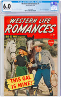 Golden Age (1938-1955):Western, Western Life Romances #1 (Marvel, 1949) CGC FN 6.0 Off-white to white pages....