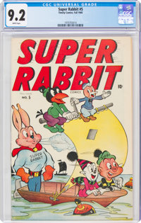 Super Rabbit #5 (Timely, 1945) CGC NM- 9.2 White pages