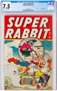 Super Rabbit #3 (Timely, 1945) CGC VF- 7.5 Off-white to white pages