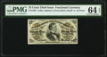 Fractional Currency:Third Issue, Fr. 1295 25¢ Third Issue PMG Choice Uncirculated 64 EPQ.. ...