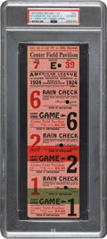 Baseball Collectibles:Tickets, 1924 World Series Games 1, 2 & 6 Full Ticket. If,...