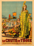 "Movie Posters:Drama, The Fall of Troy (Lux Film, 1911). Very Fine on Linen. Pre-War Belgian (24.5"" X 33.5"").. ..."