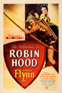 "The Adventures of Robin Hood (Warner Bros., 1938). Very Fine on Paper. One Sheet (27.5"" X 41""). From the Mike..."