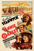 "Movie Posters:Western, Annie Oakley (RKO, 1935). Fine/Very Fine on Paper. One Sheet (27.5"" X 41""). From the Mike Kaplan Collection.. ..."